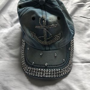 Anchor bling jean hat